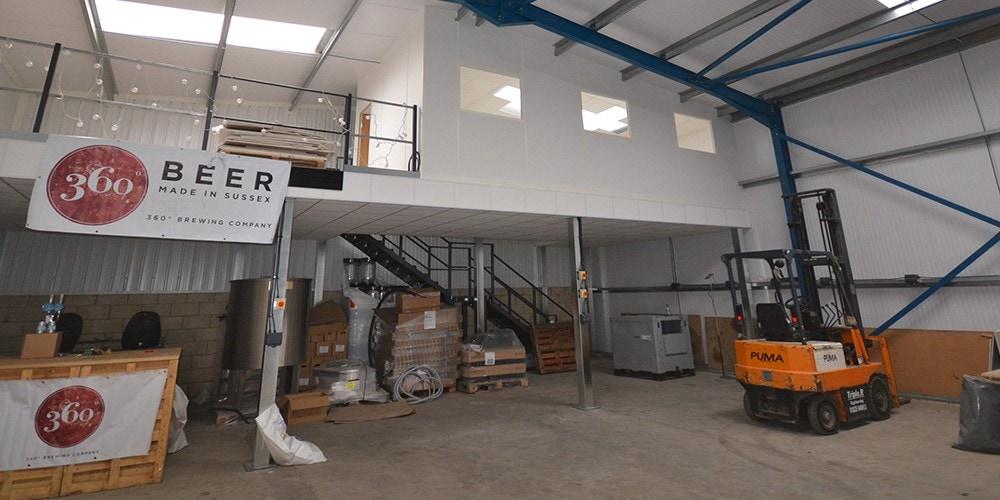 360 Degree Brewing Company – Fire Proofing To Mezzanine Floor