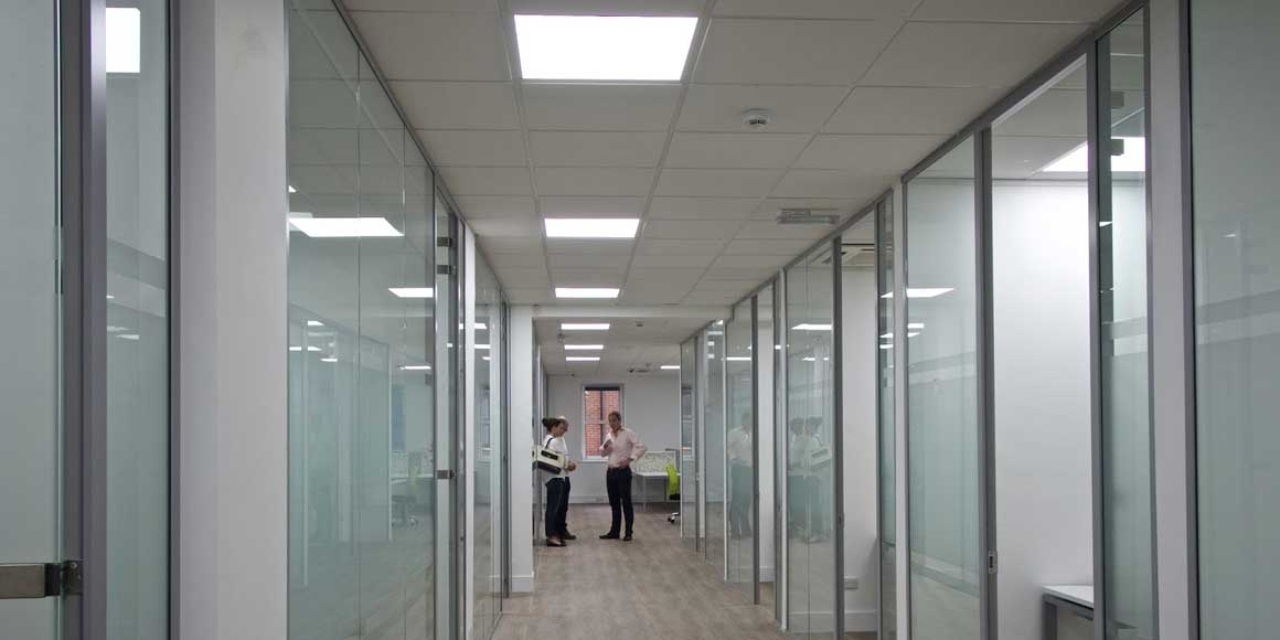 Frameless Glass Partitioning Worthing