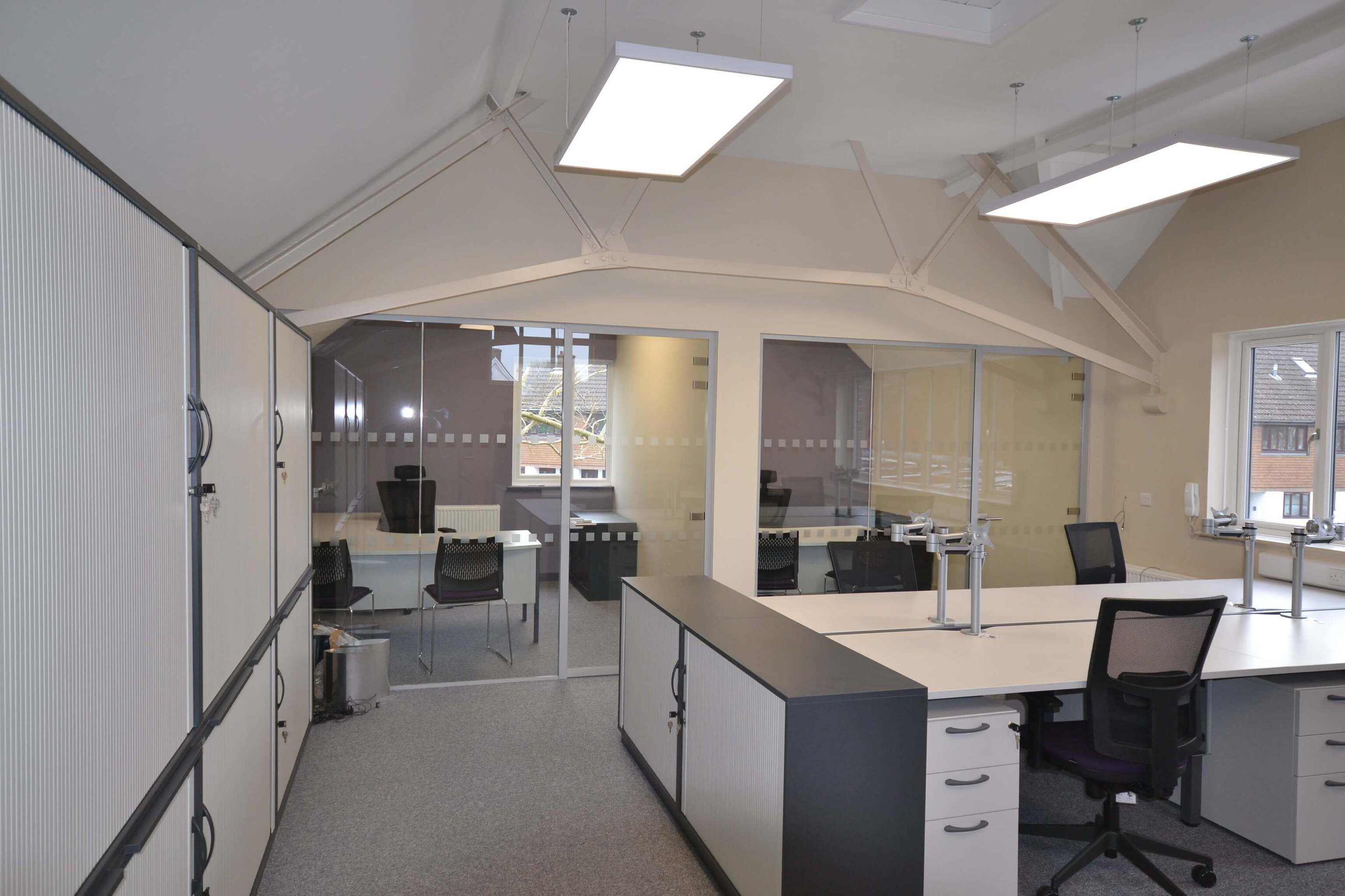 Frameless glass partitioning Cranleigh