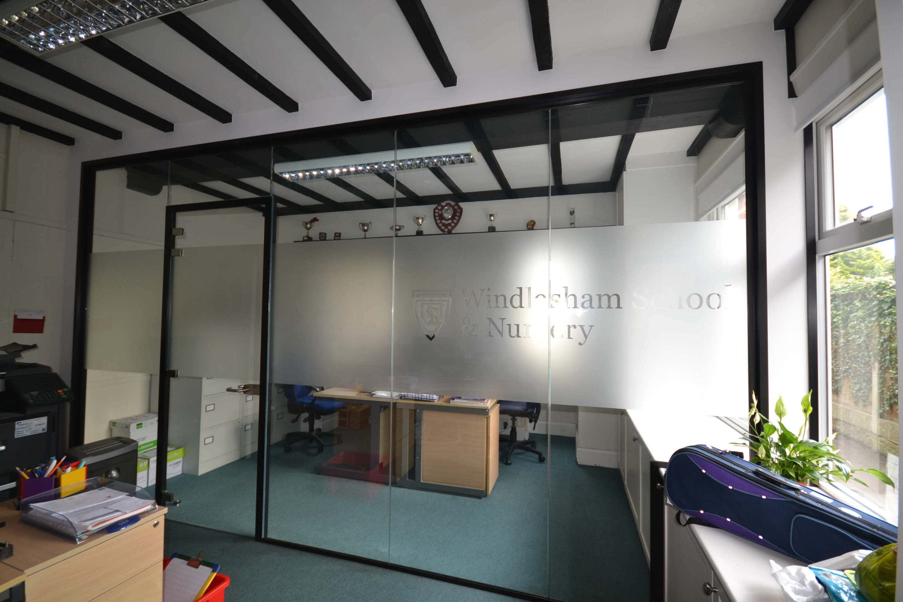 Framed glass partitioning east sussex