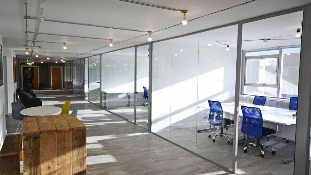 Photo of Glass Office Partitions in worthing, Sussex